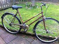 """Retro Puch town bike 19"""" frame"""