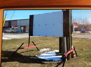 outdoor commercial sign stand - 8 feet by 4 feet.