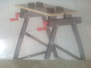 Jobmate work station vice table saw horse NEW IN BOX