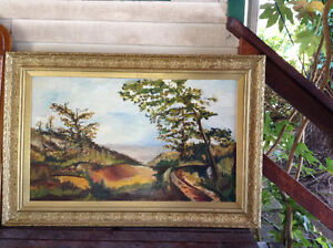 Antique frame with original oil painting