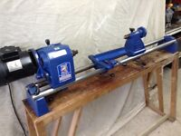 Record Power no 3 revolving head woodturning wood lathe and bench
