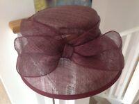 Ladies Hat Plum Colour