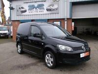 2012 VOLKSWAGEN CADDY 2.0 TDI 140BHP 6 SPEED SPORTLINE LOOKS IN BLACK CHOICE OF