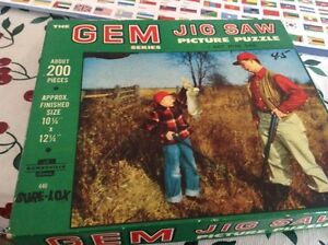 VINTAGE THE GEM JIG SAW PICTURE PUZZLE NEW