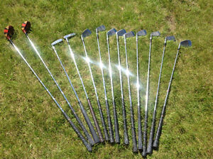 Ladies set of golf clubs with caddy