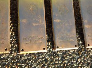 4 Antique Solid Brass Door Push Plates Regina Regina Area image 2