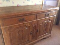Antique oak cupboard unit for sale