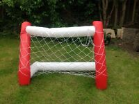 Inflatable goal net in pair