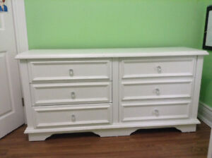 Solid Oak Dresser and Night Stand for sale