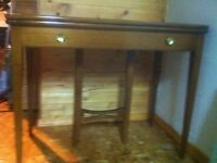 Antique wood table with leaves