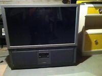 """Hitachi 43"""" 1080p projection tv"""