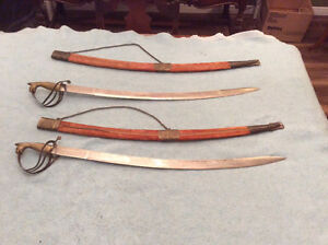 Vintage Indian Ceromonial  Dress Swords with Scabbards