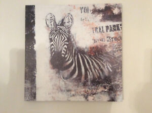 Black and white zebra wrapped abstract print