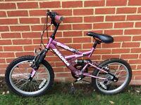 """Girls Dream Weaver Bike 18"""" Wheels 12"""" Frame 6-8 Years"""