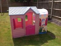 Tikes PInk princess garden Playhouse
