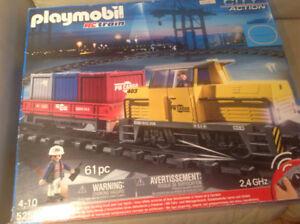 Playmobil train et camion