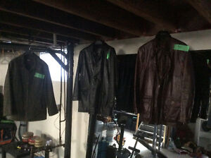 Leather stuff in mint condition and helmet etc.
