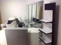 Hair saloon package, salon chair, salon reception desk, salon Backwash, Wella climazone 2