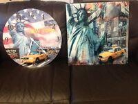 New York glass photo clock and photo