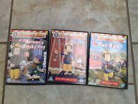 Fireman Sam DVD's X 3