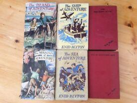 ENID BLYTON 1950's HARD BACK BOOKS X 6