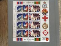 Postage stamps sheet of 8 new value £1.92 Isle of Man PO VE Day 50 th Anniversary 1945 1995