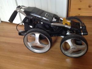 Sac de golf + bâton Taylor Made + chariot 4 roues