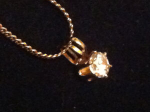Yellow Gold Plated chain 12K-[20 inches ] with pendant.