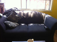 Free black couch/sofa/loveseat