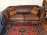 Leather Sofa - brown, very good quality, used