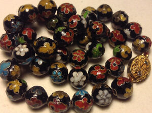Antique Chinese Cloisonne Beaded Necklace