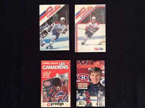 8 Montreal Canadiens yearbooks