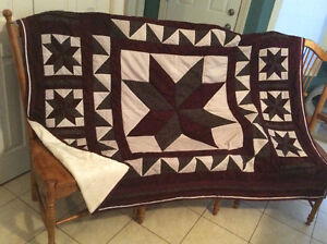 quilt with plush soft backing