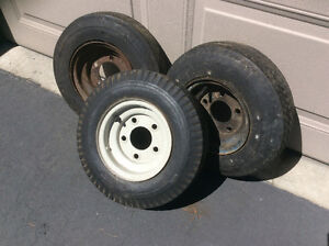 Small trailer tires and rims