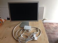 """Apple Cinema Display A1081 20"""" LCD Monitor With Power Supply"""