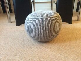 New Hand Knitted pouffe