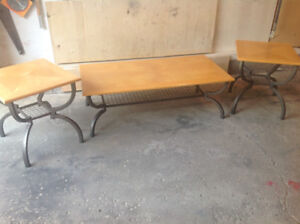 Three piece set,top end tables and a coffee table