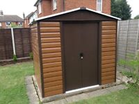 "SHED Yardmaster 6 x 8 ( approx. 7'11"" x 6'5"") Strong Steel Wooden -Grain Garden Shed"