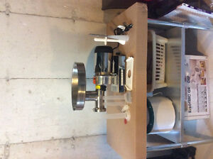 1 hp Cabela's Industrial meat grinder and stainless steel table