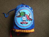 Thomas the Tank sleeping bag with rucksack carrier