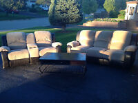 Tyson Collection ... Reclining Couch and Love Seat and Table