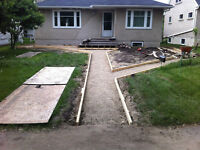 CONCRETE PATIO'S/SIDEWALKS/DRIVEWAYS