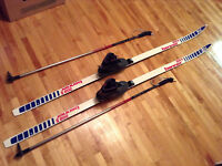 Équipement skis de fond BENNER S208, sans cire, bottes ROSSIGNOL
