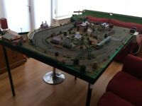 Hornby 00 Train Set. Full layout and rolling stock (trains). Trainset. Trains. Railway.