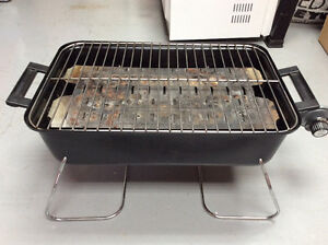 Portable barbecue for picnic or camping.