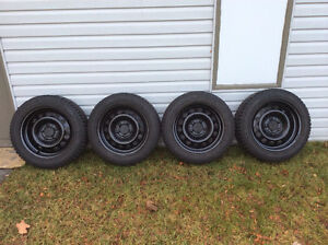Nokian studded winter tires with rims