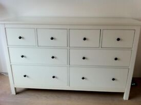 **FREE DELIVERY** IKEA HEMNES CHEST OF 8 DRAWERS IN WHITE