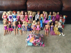 Barbie dolls and and more.