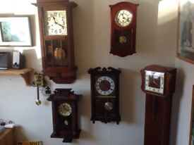 Choice of antique and decorative clocks