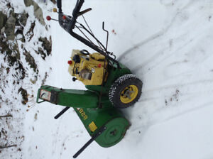 John Deere snowblower 8/26
